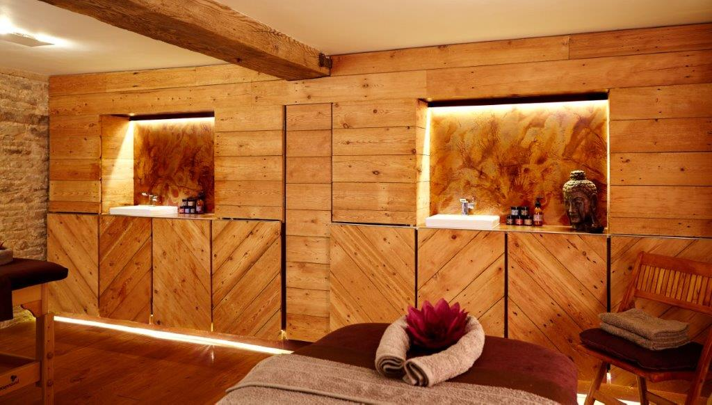 Luxurious spa treatment room